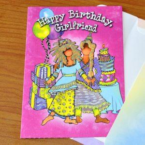 Happy Birthday Girlfriend - greeting card outside