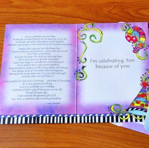Happy Birthday Girlfriend - greeting card inside