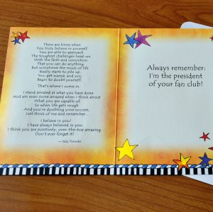 Son, I believe in you greeting card - inside