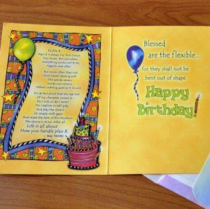 Plan B - Birthday greeting card inside