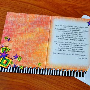 Forever my Son greeting card - inside