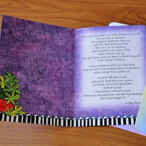 Daughter I Believe in you greeting card - inside