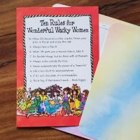 Ten Rules for Wonderful Wacky Women – Greeting Card (limited availability)