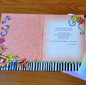 Rules for Wacky WOmen greeting card - inside