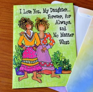 My Daughter greeting Card - outside