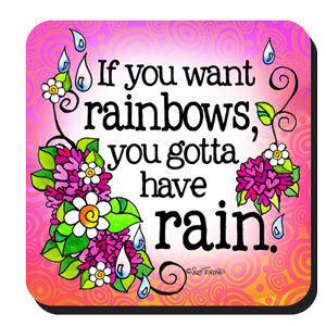 rainbows rain - coaster