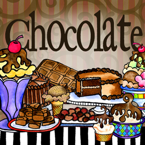Chocolate collection - button