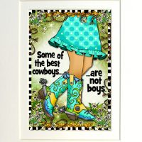 """Some of the best cowboys… are not boys. (TingleBoots) – 8 x 10 Matted """"Gifty"""" Art Print"""