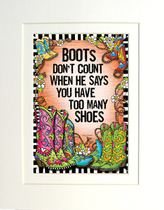 Boots don't count - matted art print