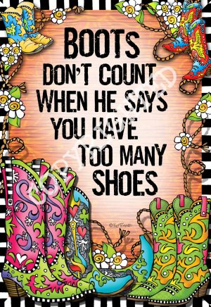 Boots don't count - art print