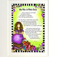 """She Who is With Child – 8 x 10 Matted """"Gifty"""" Art Print"""