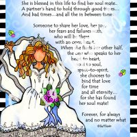 """She Who Found Her Soulmate – 8 x 10 Matted """"Gifty"""" Art Print"""