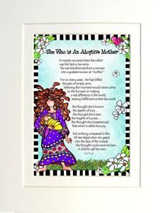 Adoptive Mother - matted art print