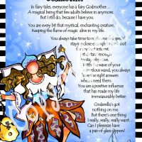 """She Who is My Godmother – 8 x 10 Matted """"Gifty"""" Art Print"""