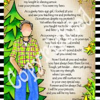 "He Who is My Dad – 8 x 10 Matted ""Gifty"" Art Print"