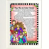 "They Who are Foster Parents – 8 x 10 Matted ""Gifty"" Art Print"