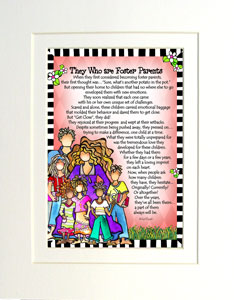 Foster Parents - matted art print