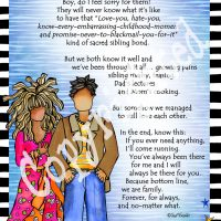 """He Who is My Brother – 8 x 10 Matted """"Gifty"""" Art Print"""