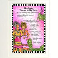 "Grandma… Forever in My Heart – 8 x 10 Matted ""Gifty"" Art Print"