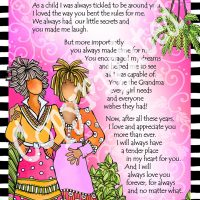 """Grandma… Forever in My Heart – 8 x 10 Matted """"Gifty"""" Art Print"""