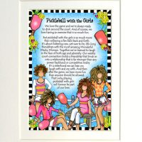 "Pickleball with the Girls – 8 x 10 Matted ""Gifty"" Art Print"