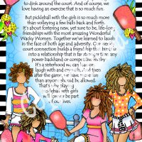 """Pickleball with the Girls – 8 x 10 Matted """"Gifty"""" Art Print"""