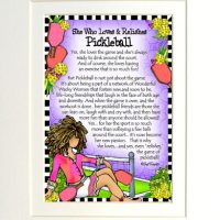 """She Who Loves & Relishes Pickleball – 8 x 10 Matted """"Gifty"""" Art Print"""