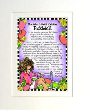 Loves Pickleball - matted art print
