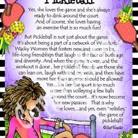 "She Who Loves & Relishes Pickleball – 8 x 10 Matted ""Gifty"" Art Print"