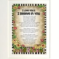 """I Love You & I Believe in You – 8 x 10 Matted """"Gifty"""" Art Print"""