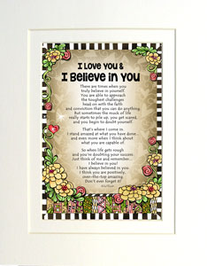 Love and Believe in You - matted art print