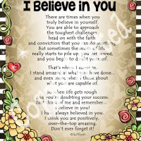 "I Love You & I Believe in You – 8 x 10 Matted ""Gifty"" Art Print"