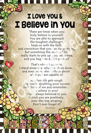 Love and Believe in You - art print