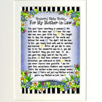 "Wonderful Wacky Words… For My Mother-In-Law – 8 x 10 Matted ""Gifty"" Art Print"