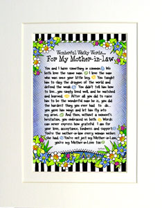 Mother-in-law - matted art print