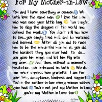 """Wonderful Wacky Words… For My Mother-In-Law – 8 x 10 Matted """"Gifty"""" Art Print"""
