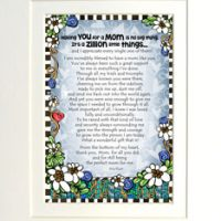 "Having You for a Mom is No Big Thing, It's a Zillion Little Things… – 8 x 10 Matted ""Gifty"" Art Print"