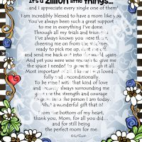 """Having You for a Mom is No Big Thing, It's a Zillion Little Things… – 8 x 10 Matted """"Gifty"""" Art Print"""