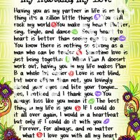 "Wonderful Wacky Words My Husband, My Love – 8 x 10 Matted ""Gifty"" Art Print"
