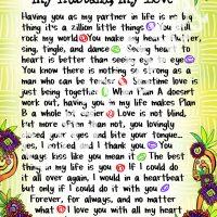 "Wonderful Wacky Words My Husband, My Love – 8 x 10 Matted ""Gifty"" Art Print"