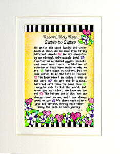 WORDS sister to Sister - matted art print