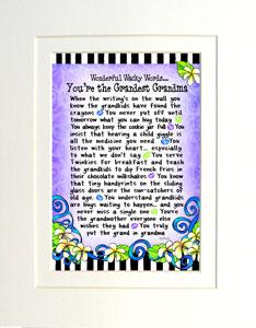 Grandest Grandma - Matted Art Print