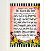 "Wonderful Wacky Words… The Man in My Life – 8 x 10 Matted ""Gifty"" Art Print"