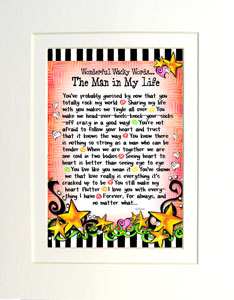 Man in My Life - matted art print