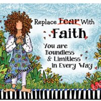 Replace Fear With Faith You are Boundless & Limitless in Every Way – Mouse Pad