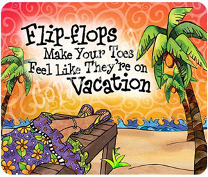 Vacation toes mouse pad