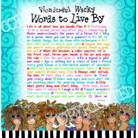 Wonderful Wacky Words to Live By – Mouse Pad