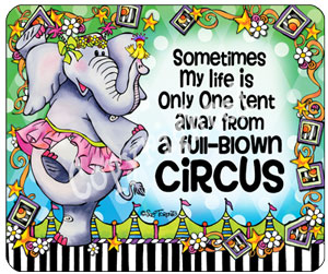 Full Blown Circus mouse pad