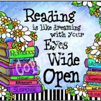 Reading is like dreaming with your Eyes Wide Open – Mouse Pad