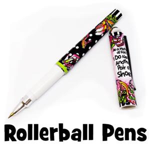 roller ball pens - button
